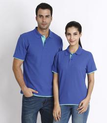 Contrasting color CVC short sleeve POLO shirts P6AC05