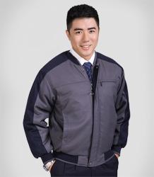 Ribbed collar winter fiberfill-layered jacket AC-7506