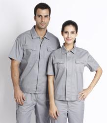 Poly-cotton short sleeve jacket P2K804-1